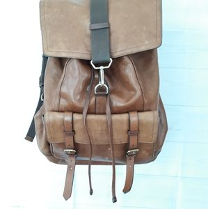 Coach leather backpack #70786